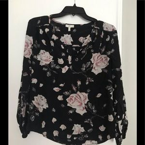 Joie silk blouse with roses